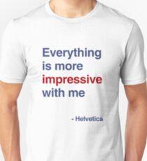 best font ever ( helvetica) Unisex T-Shirt