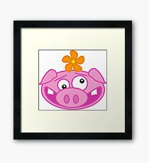 Silly Cartoon Piggie Framed Print