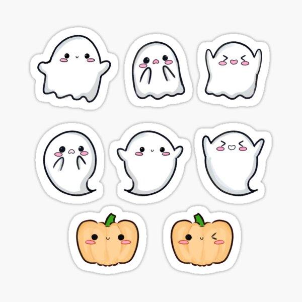Kawaii Halloween Ghosties and Pumpkins Set Sticker