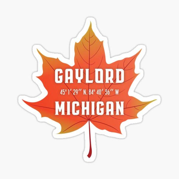 Gaylord, Michigan Maple Leaf Sticker