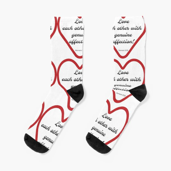 Bible Quote Romans 12v10 Love Each Other Socks