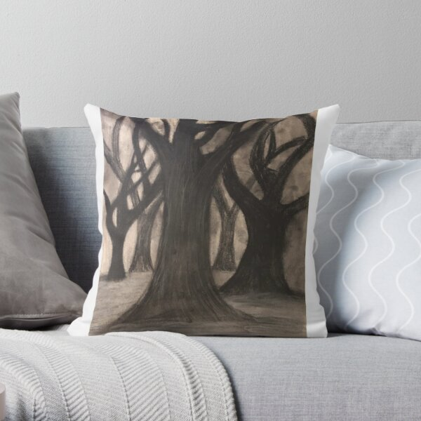 Hauntingly Familiar Throw Pillow