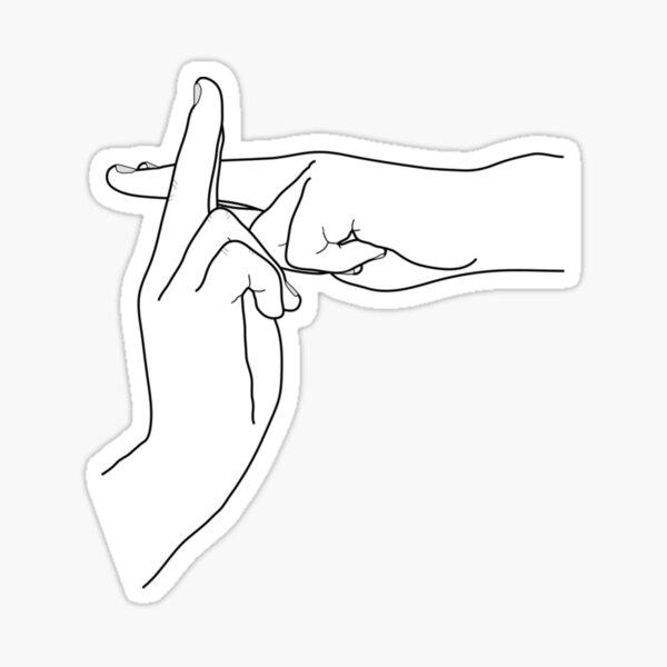 shadow clone / kage bushin   hand sign / seal Sticker