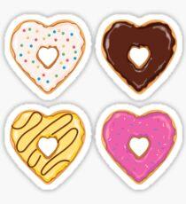 Heart Shaped Donuts Sticker