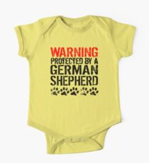 Warning Protected By A German Shepherd One Piece - Short Sleeve