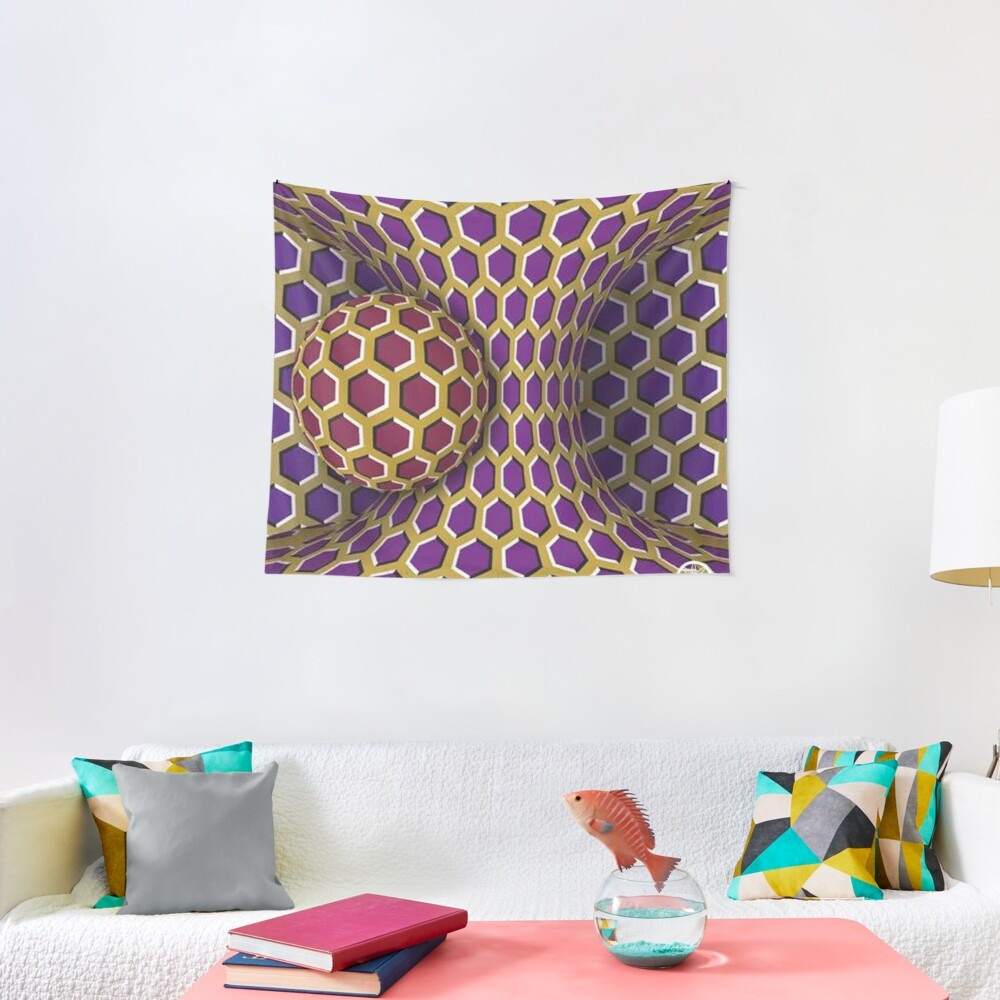 Motion Illusion Tapestry