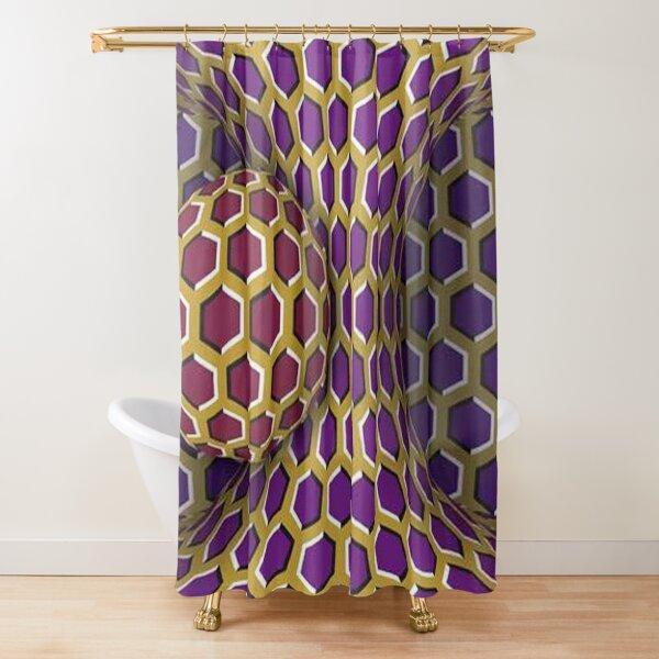 Motion Illusion Shower Curtain
