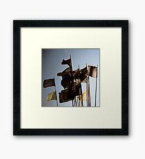 Black Flag Framed Print