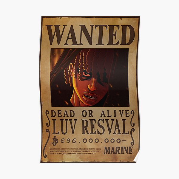 Luv Resval Wanted Poster