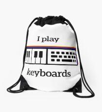 I play keyboards Drawstring Bag