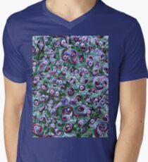 #DeepDream Ice 5x5K v1452178372 V-Neck T-Shirt