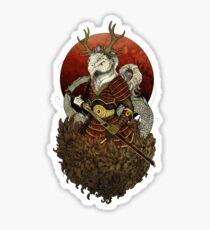 Dragon Samurai - Colour Sticker
