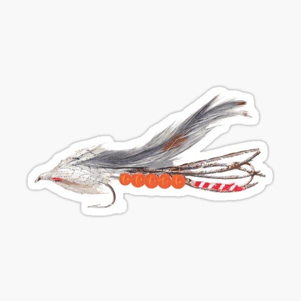 Beaded Grey Ghost Fishing Lure Sticker