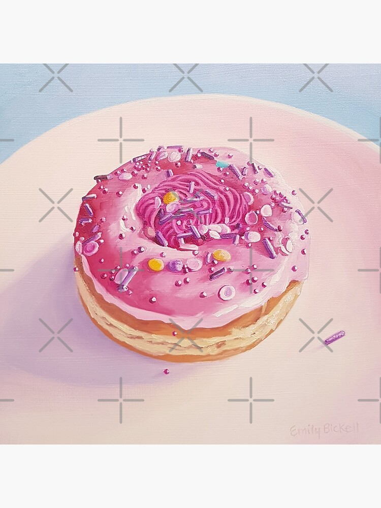 Strawberry Swirl Donut painting  by EmilyBickell