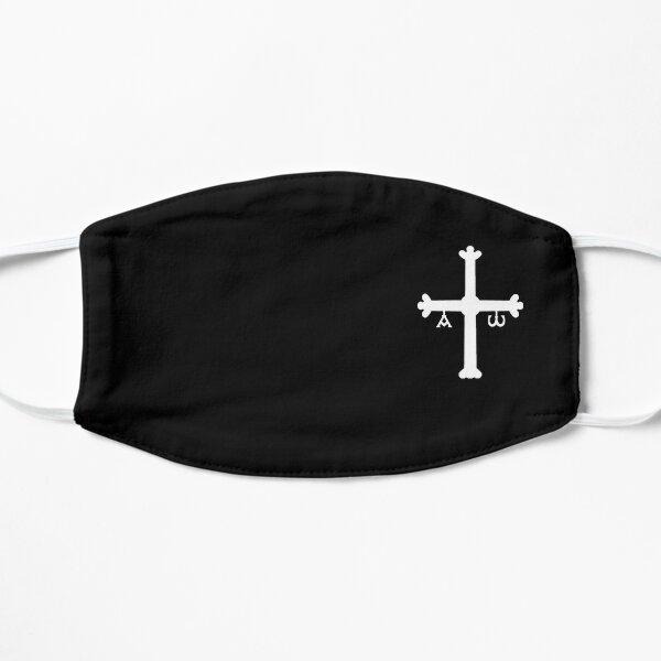 Cruz de Asturias España blanca mini Mascarilla plana