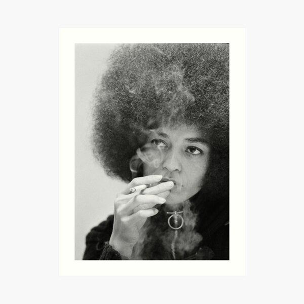 Angela Davis Smoking Art Print