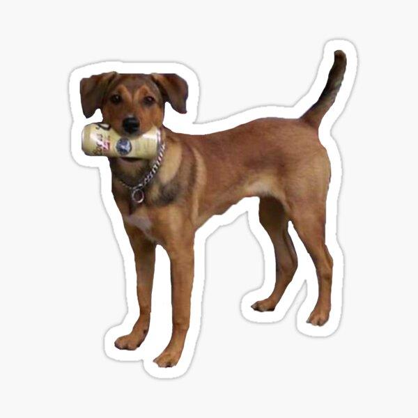 Beer Drinking Dog Sticker