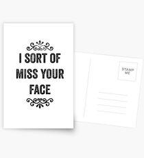 Ich sortiere von Miss Your Face Snarky Card Postkarten
