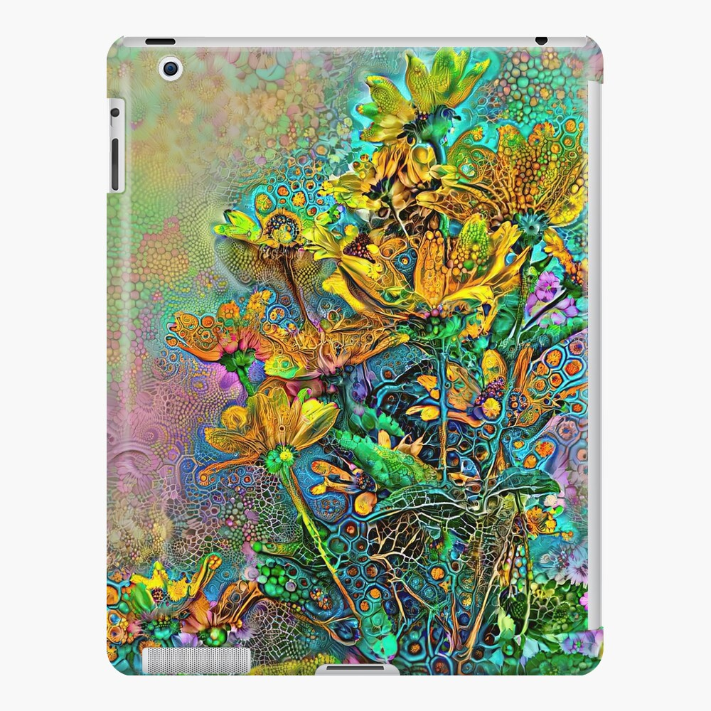 Floral Deepdream abstraction iPad Case & Skin