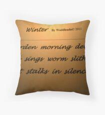 Morning Haiku Throw Pillow