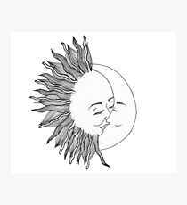 Sun and Moon Photographic Print