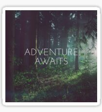 Adventure awaits, Motivation quote Sticker