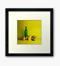 Lemon lime still life Framed Print