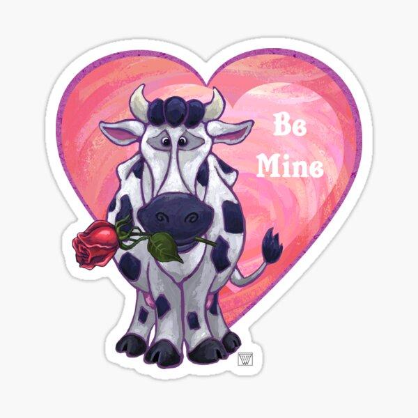 Cow Valentine's Day Sticker