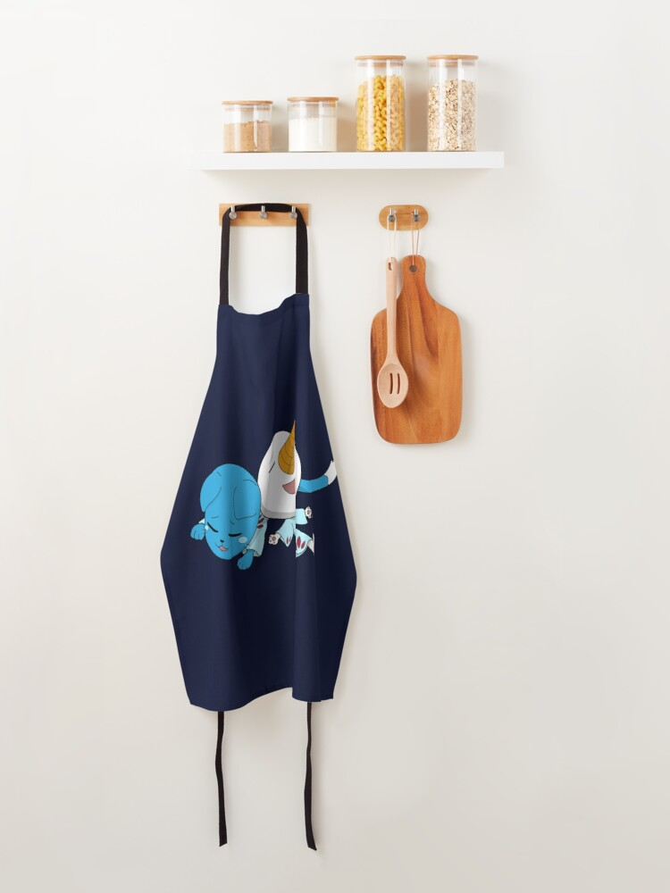 Alternate view of Happy and Plue Fairy Tail Apron