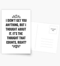 The Thought That Counts Snarky Card Postcards