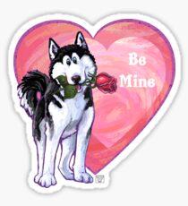 Husky Valentine's Day Sticker