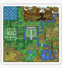 The Legend of Zelda: A Link to the Past Map Sticker