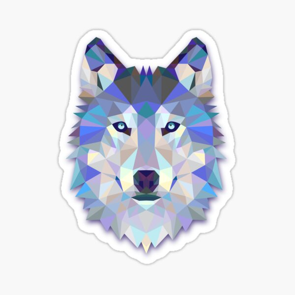 Triangle wolf Sticker
