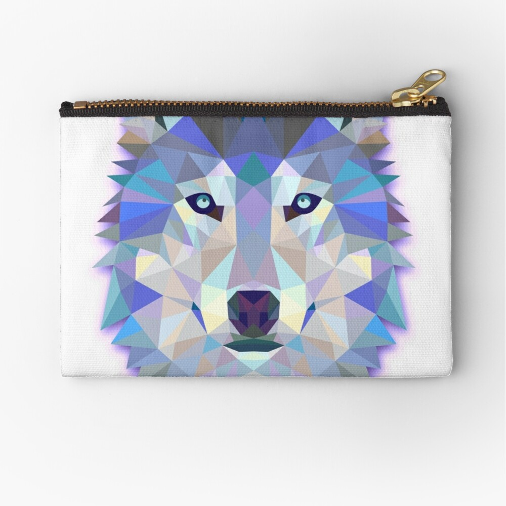 Canvas Cash Coin Purse,Fantasy Wolf Howl Art Print Make Up Bag Zipper Small Purse Wallets