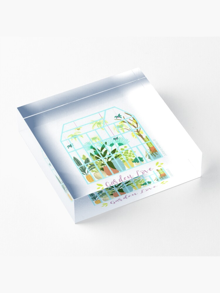 Alternate view of Garden Love - Version 2 Acrylic Block