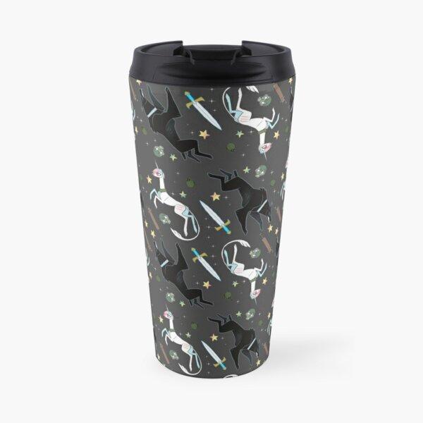 Glitter Grim Pattern Travel Mug