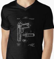1911 Patent Blueprint Men's V-Neck T-Shirt