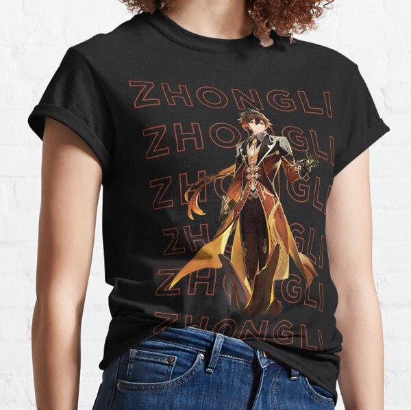 Diseño Genshin Impact Zhongli Camiseta clásica