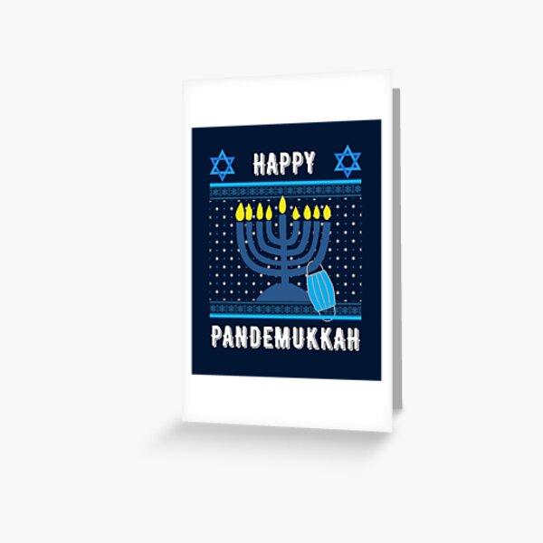 Funny Hanukkah 2020 in Quarantine Greeting Card