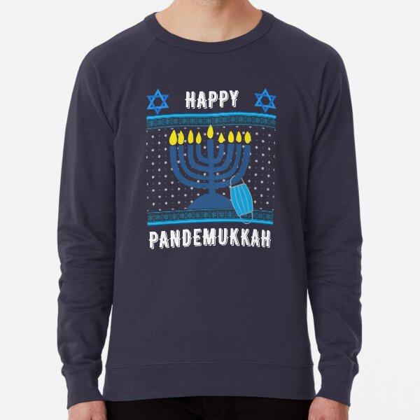 Funny Hanukkah 2020 in Quarantine Lightweight Sweatshirt