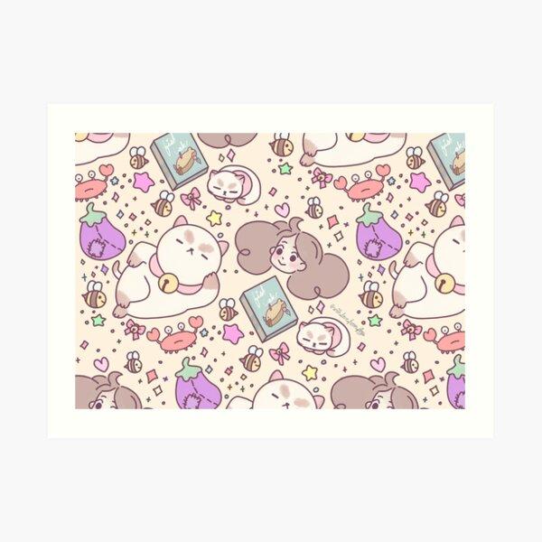 Bee and Puppycat doodles Art Print