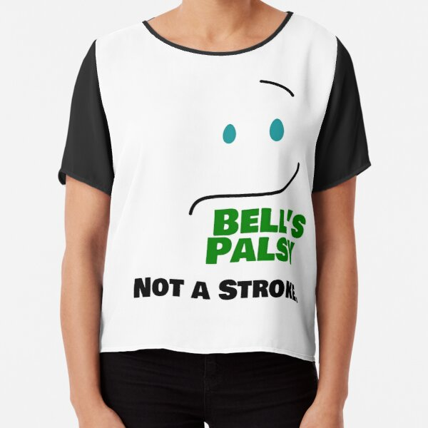 Bell's Palsy NOT A STROKE -- Green Chiffon Top