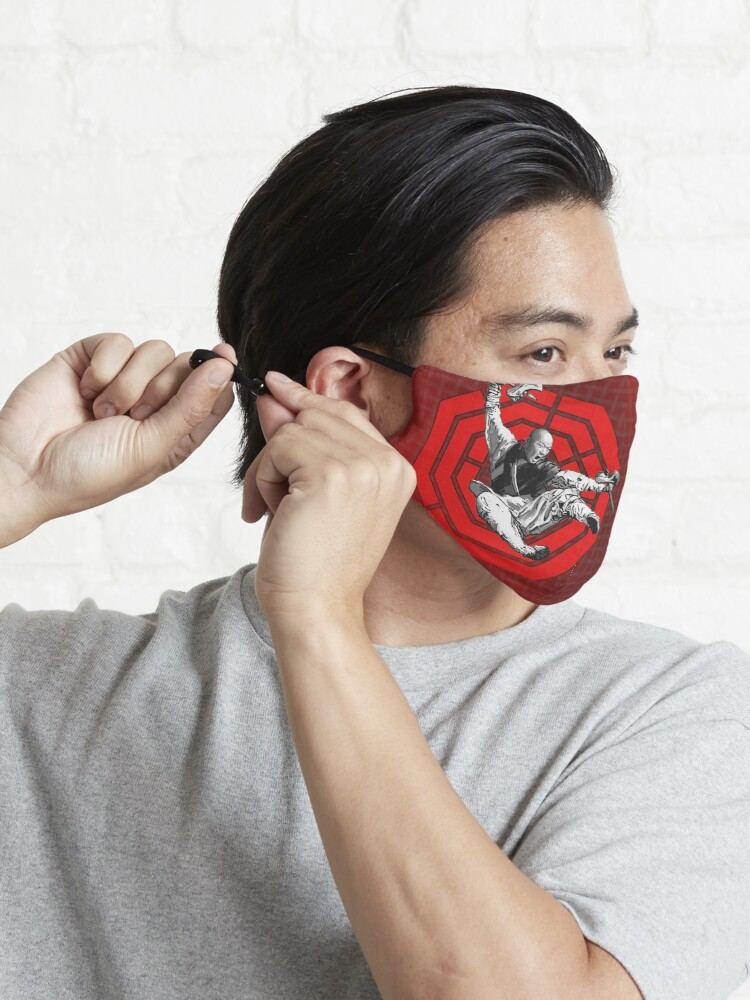 Alternate view of Red Bagua Monk Mask
