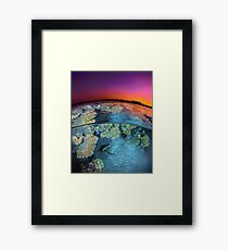 Dusk at the Red Sea Reef Framed Print