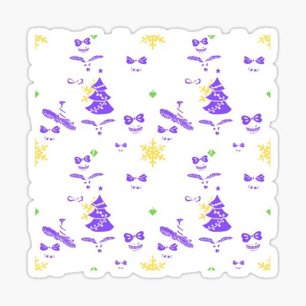 Snow white pattern Xmash Sticker