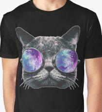 Cat Eye Galaxy Graphic T-Shirt