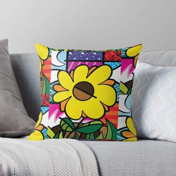 Mom Sunflower Throw Pillow