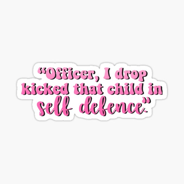 """""""Self Defence"""" Technoblade MCYT Quote Sticker"""