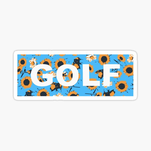 Golf Flower Sticker