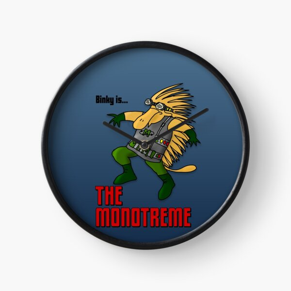 Binky is... The Monotreme! Clock